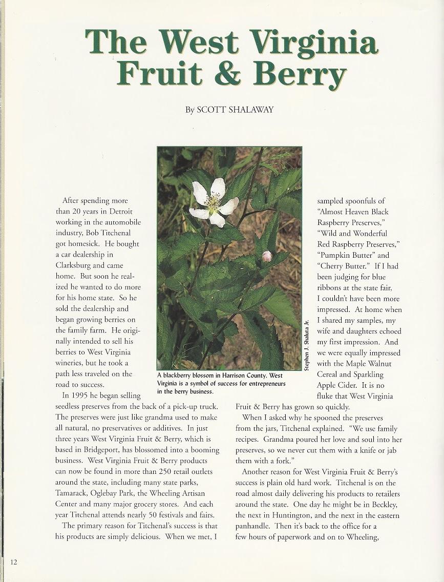 Aug 1998 Ed. Wonderful West Virginia Magazine