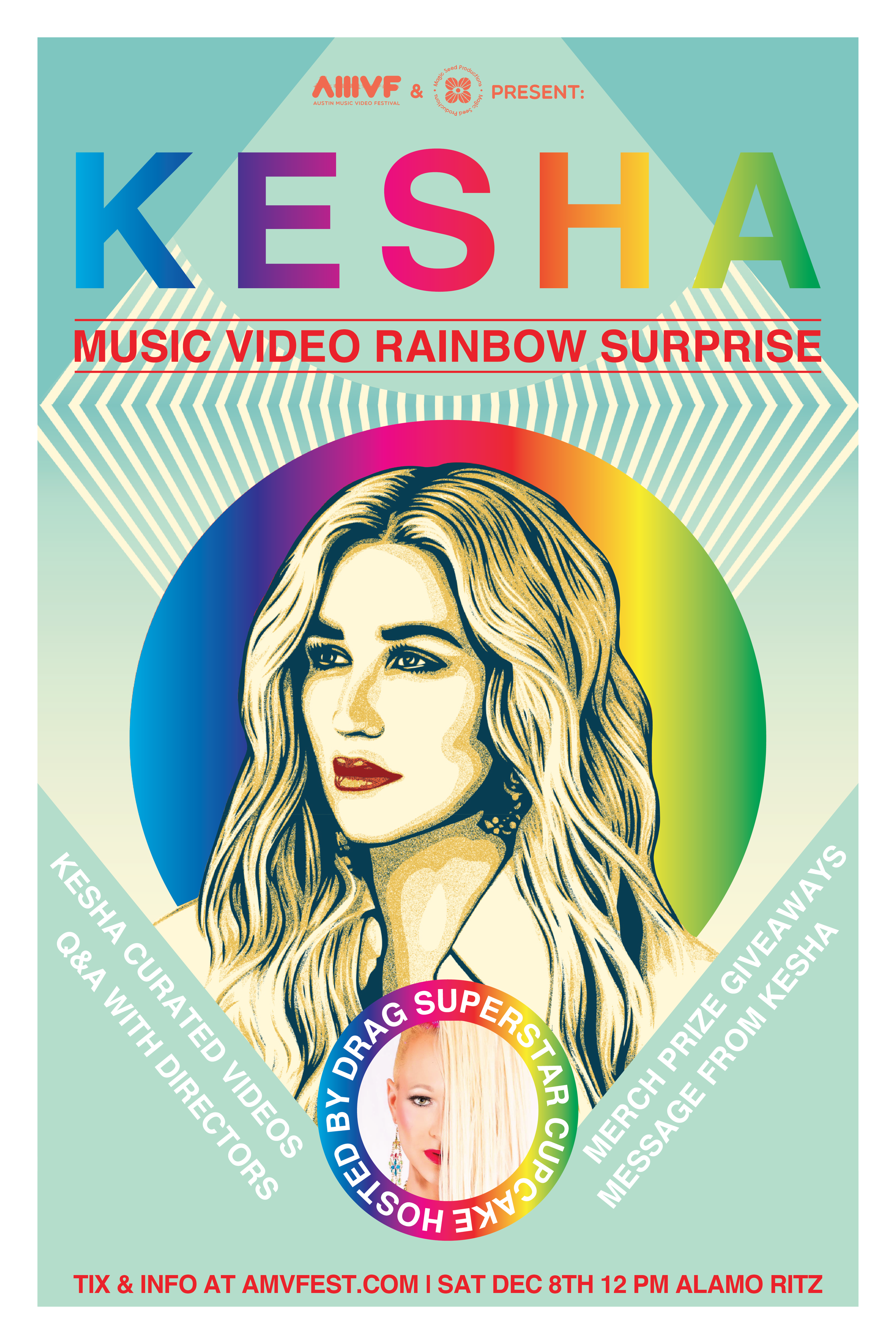 Kesha Music Video Surprise @AMVF