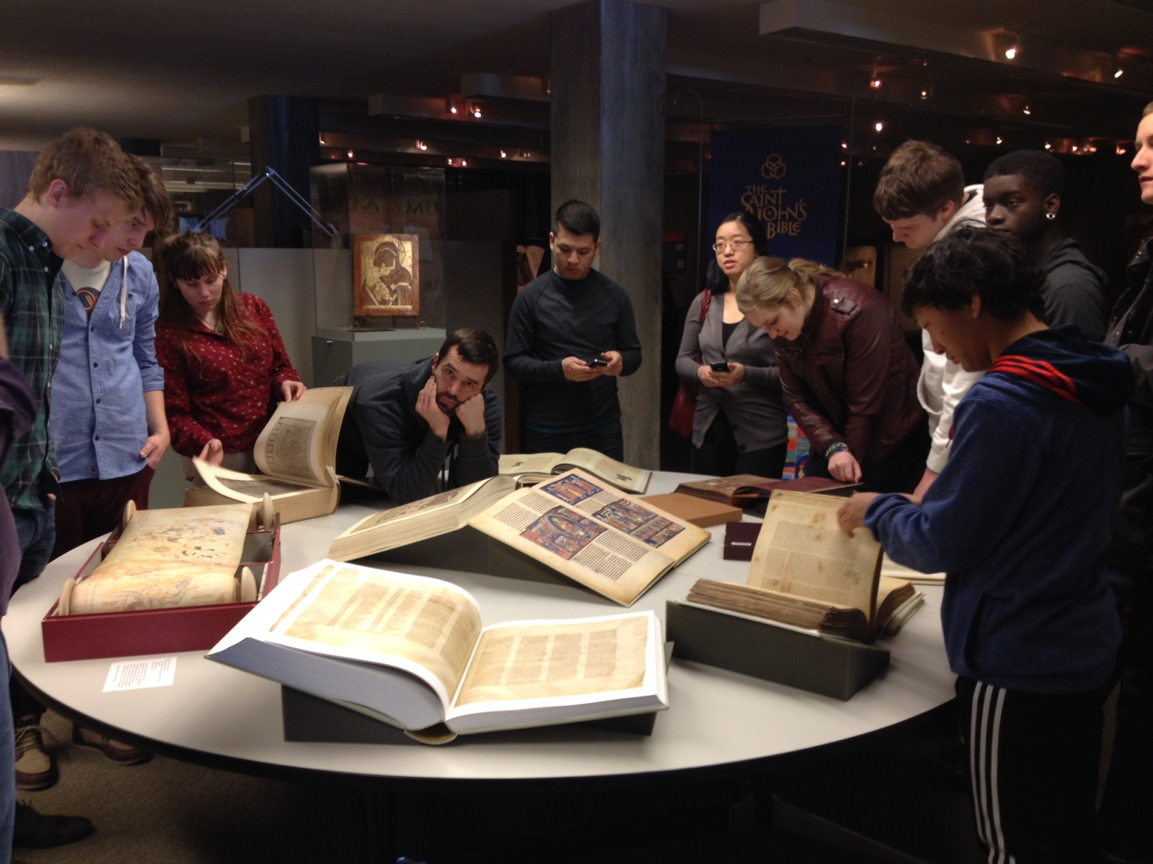 NCU students visit the Hill Museum & Manuscript Library - Saint John's Abbey and University -Collegeville, Minnesota
