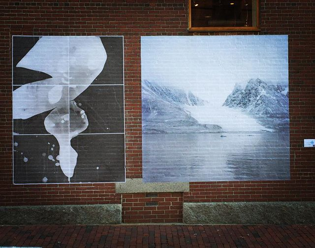 Another installation up in Portland. Thank you @tonee_harbert #eastbrowncow @bakeryphotocollective  @shopkcolette and of course @space538 and @kindlingfund . . . Generous support for  #chattermarkproject from #spacegallery through the #kindlingfund . .  #arctic #glacierice #photogram #princewilliamsound #svalbard #streetart #wheatpaste  #temporaryart #magdalenafjord #mural