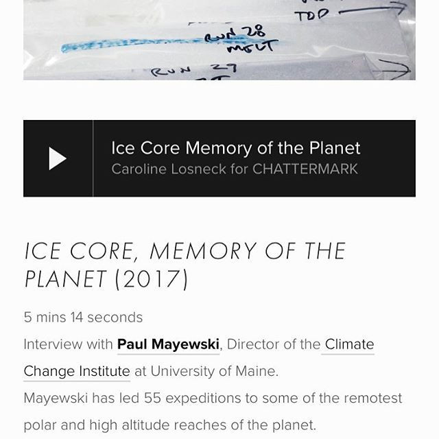 @caroline207maine contributed this wonderful audio piece to #chattermarkproject featuring #paulmayewski from @university.of.maine @climatechangeinstitute speaking about #ice core research. . . Find it under ROCKLAND at: www.chattermarkproject.com . . . #rocklandmaine #memory #arcticcircle #planet #sammysdeluxe #kindlingfund #spacegallery #glacierice #temporaryart #wheatpaste #svalbard #streetart #photogram #princewilliamsound . . . Generous support for #chattermarkproject from @space538 through @kindlingfund Thank you! And thank you @sammysdeluxe for hosting this installation!