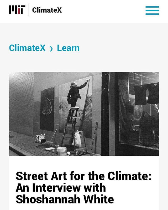 Absolutely beyond honored that MIT's climate folks were interested in my project, @chattermarkproject . . Link to interview in bio. .  Thank you MIT, ClimateX, @kindlingfund @space538 @bakeryphotocollective and so many contributors that have made this project possible. . . . #climatechange #climate #mit #glacierice #glacier #photogram #streetart #wheatpaste #arctic