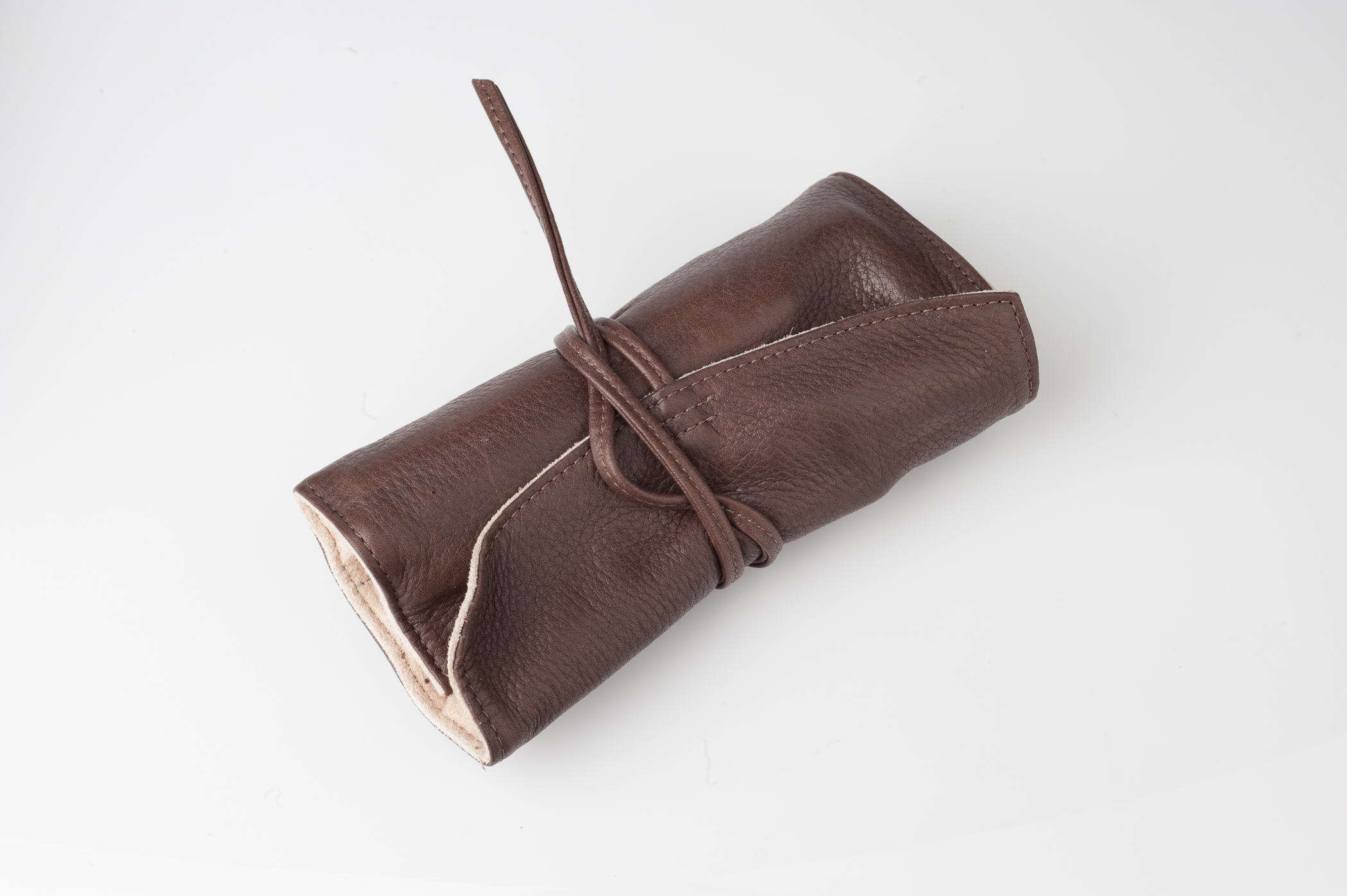 Pilot Pensemble Leather Pen Roll wrapped for storage