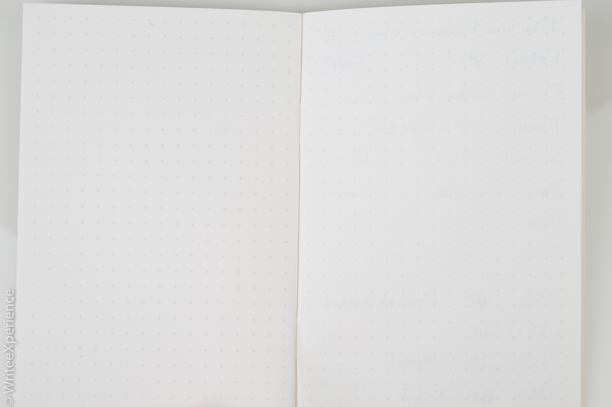 The page on the right is the back of the above written page. Minimal bleed!