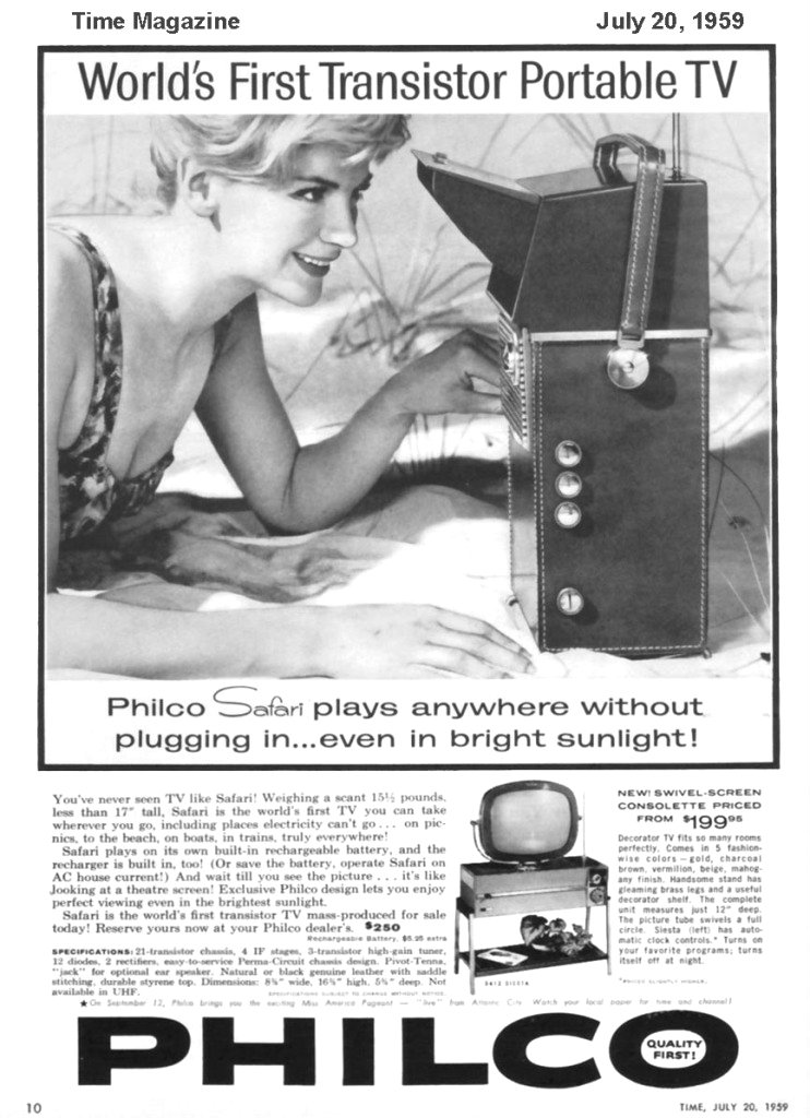 1959- The First Portable Television