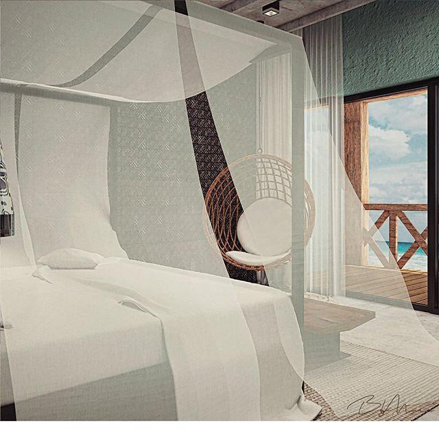 The perfect getaway room ✨ Combinación de texturas, colores y materialidades para crear un ambiente de frescura, paz y tendencia en #HotelBoutique 📍Tulum, Quintana Roo, México. #ByMura