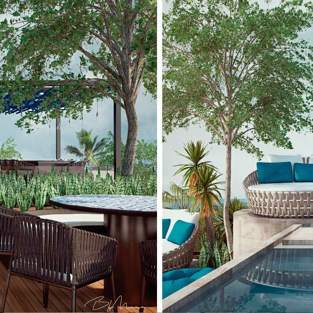 Áreas exteriores perfectas para disfrutar un día en la playa. #HotelBoutique #ByMura