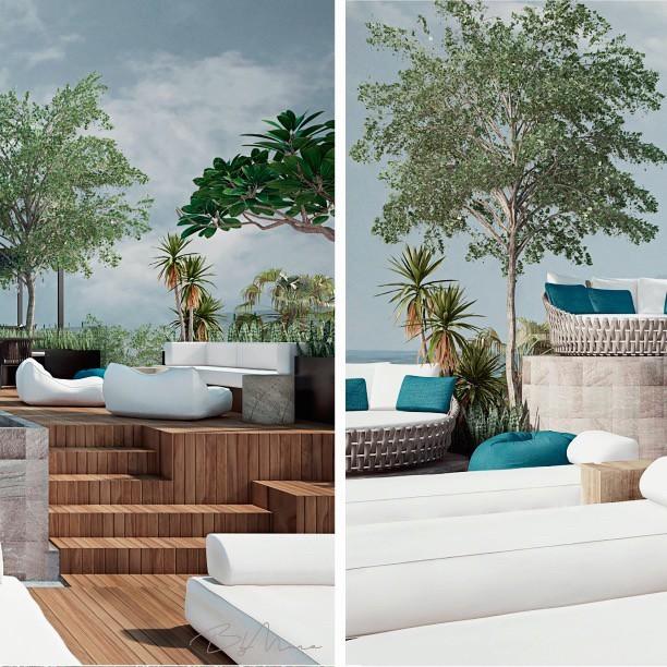 Amamos la paleta de colores en #HotelBoutique El azul predomina en los detalles, mientras tonos blancos y neutros crean una sensación relajante. 🌊 ⠀⠀⠀⠀⠀⠀⠀⠀⠀ 📍Tulum, Quintana Roo. ⠀⠀⠀⠀⠀⠀⠀⠀⠀ #ByMura