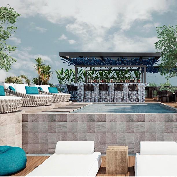 En #HotelBoutique nos enfocamos en el color azul y la integración de artesanías locales para mantener la escencia de Tulum. 🌊 ⠀⠀⠀⠀⠀⠀⠀⠀⠀ 📍 Tulum, Quintana Roo. #ByMuraArq
