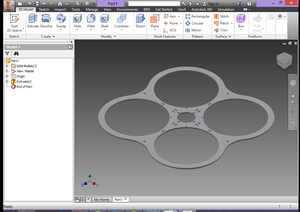 Screenshot of CAD frame design