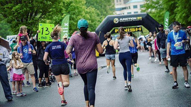 Perfect Pace runners @mcashgray and Brooke finishing Charlotte Race Fest Half Marathon! @charlotteracefest