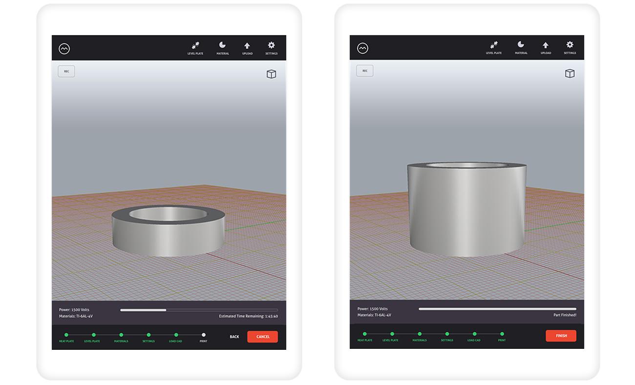 iPad 3D Printing Software Application for Robotic Printer