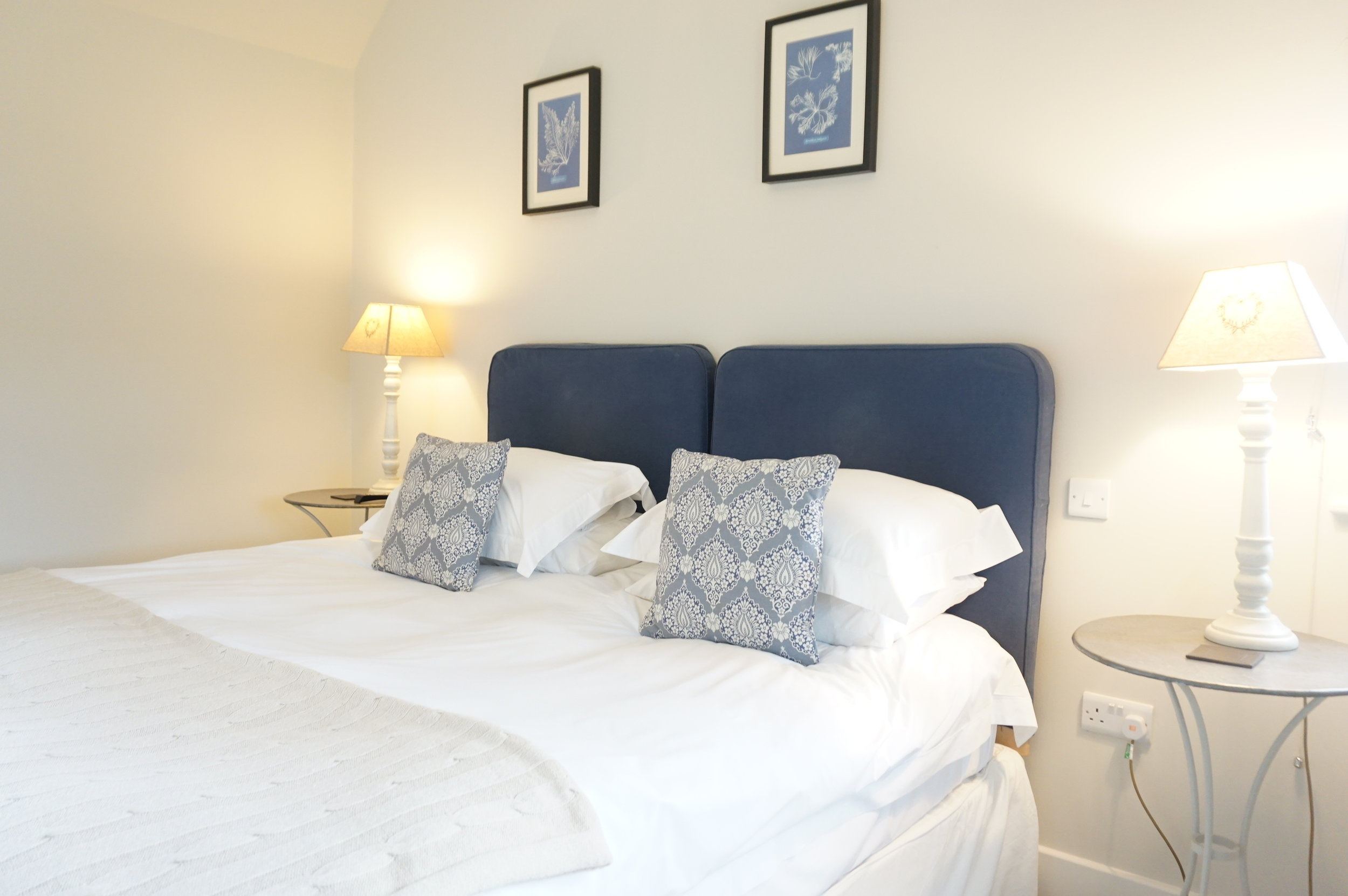 Room 1 - A gorgeous room with direct views of the South Downs National Park. Can be booked as a double or as a twin room. This rooms has its own private entrance and a private bathroom with a bath to maximize relaxation. The perfect choice for a couple, or a single traveller.