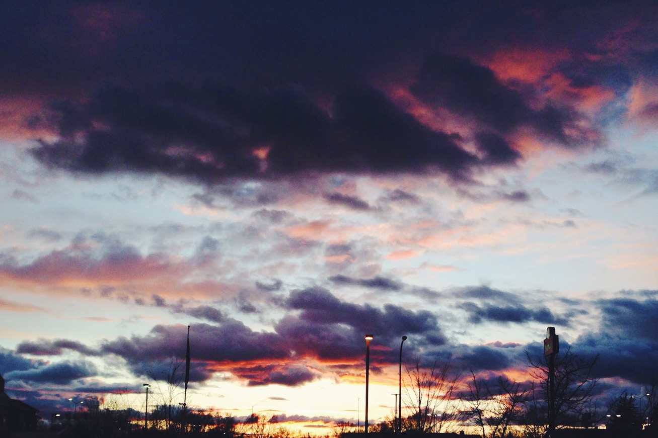 Sunset in the Parking Lot
