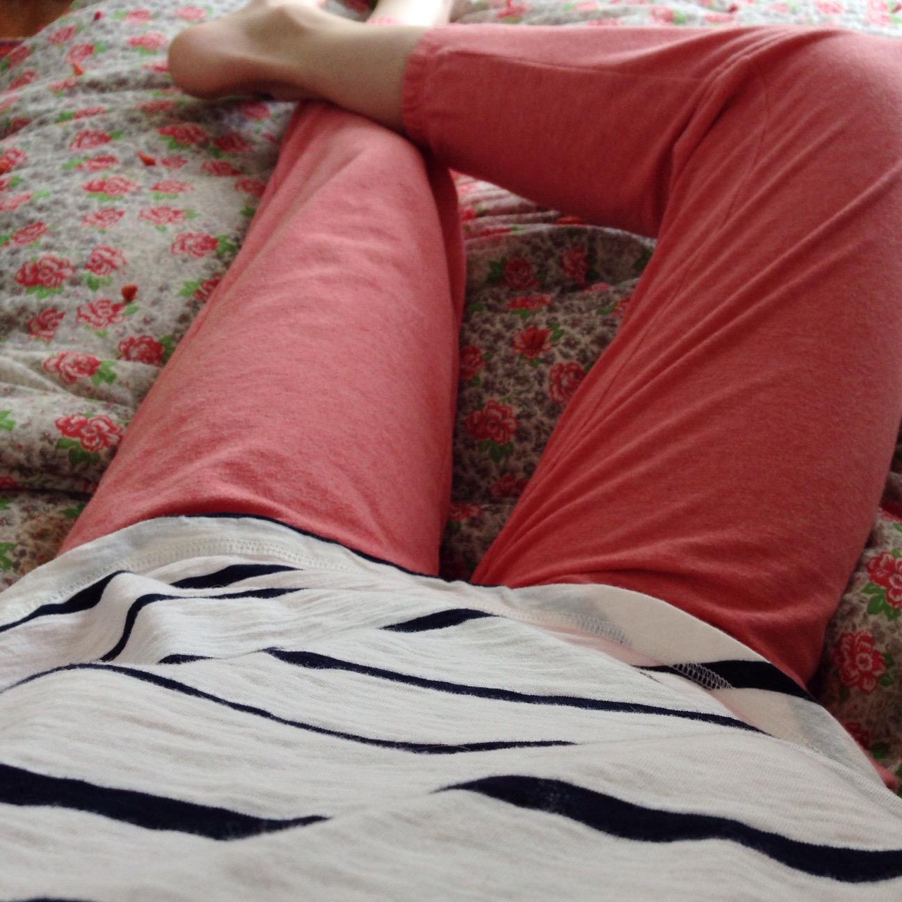 comfy in sweatpants