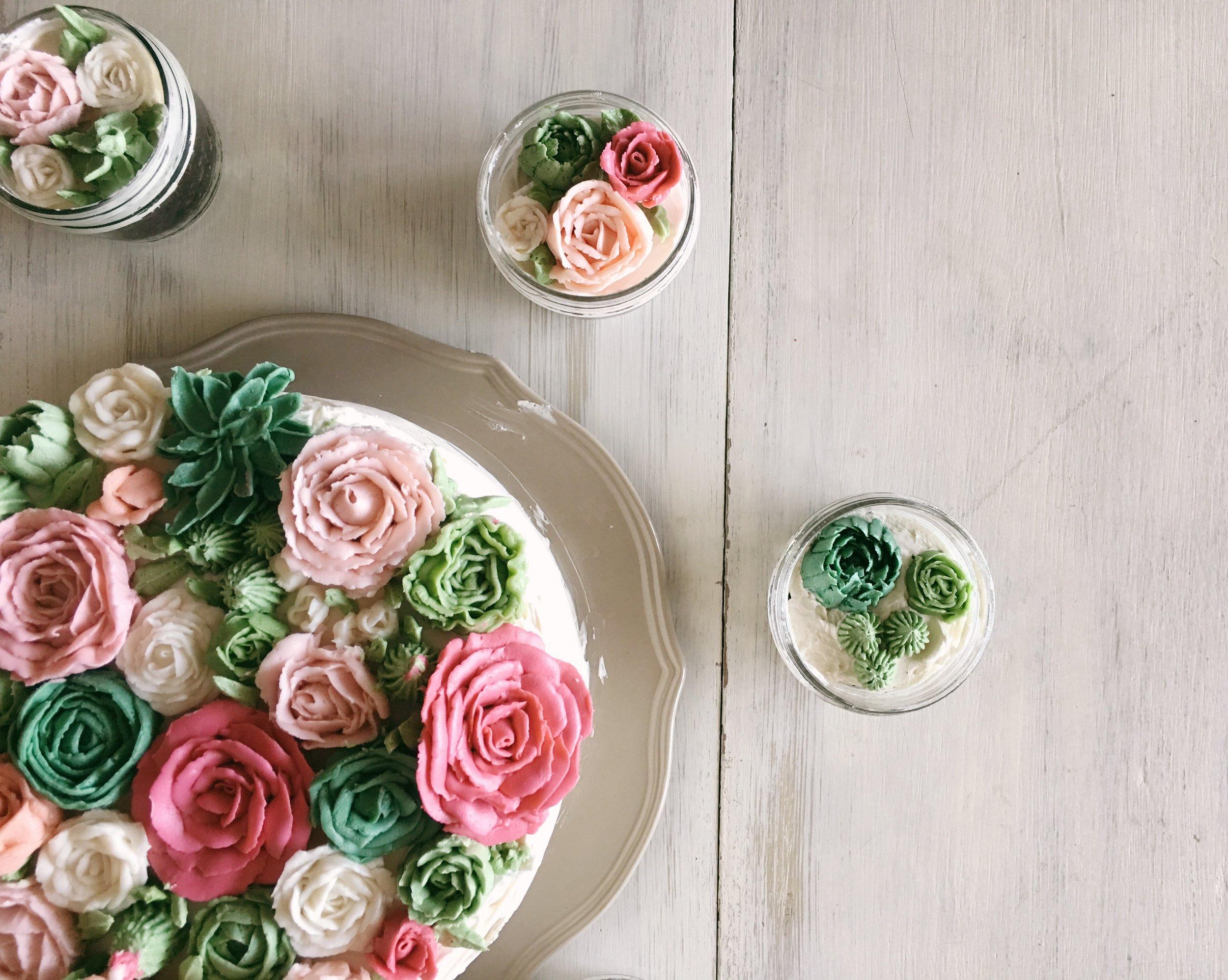 Buttercream Flower Cake!!!