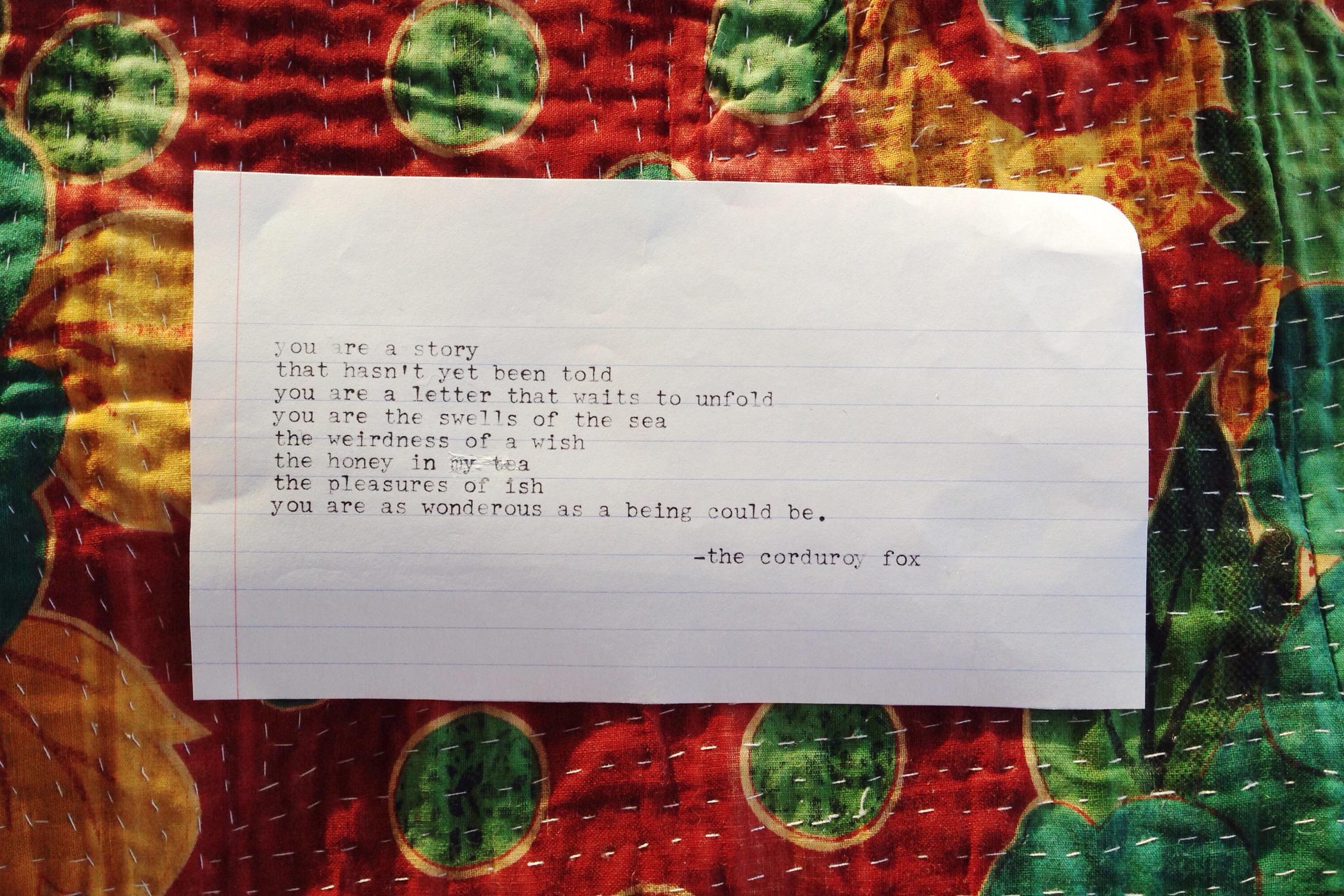 Nameless Poem by The Corduroy Fox