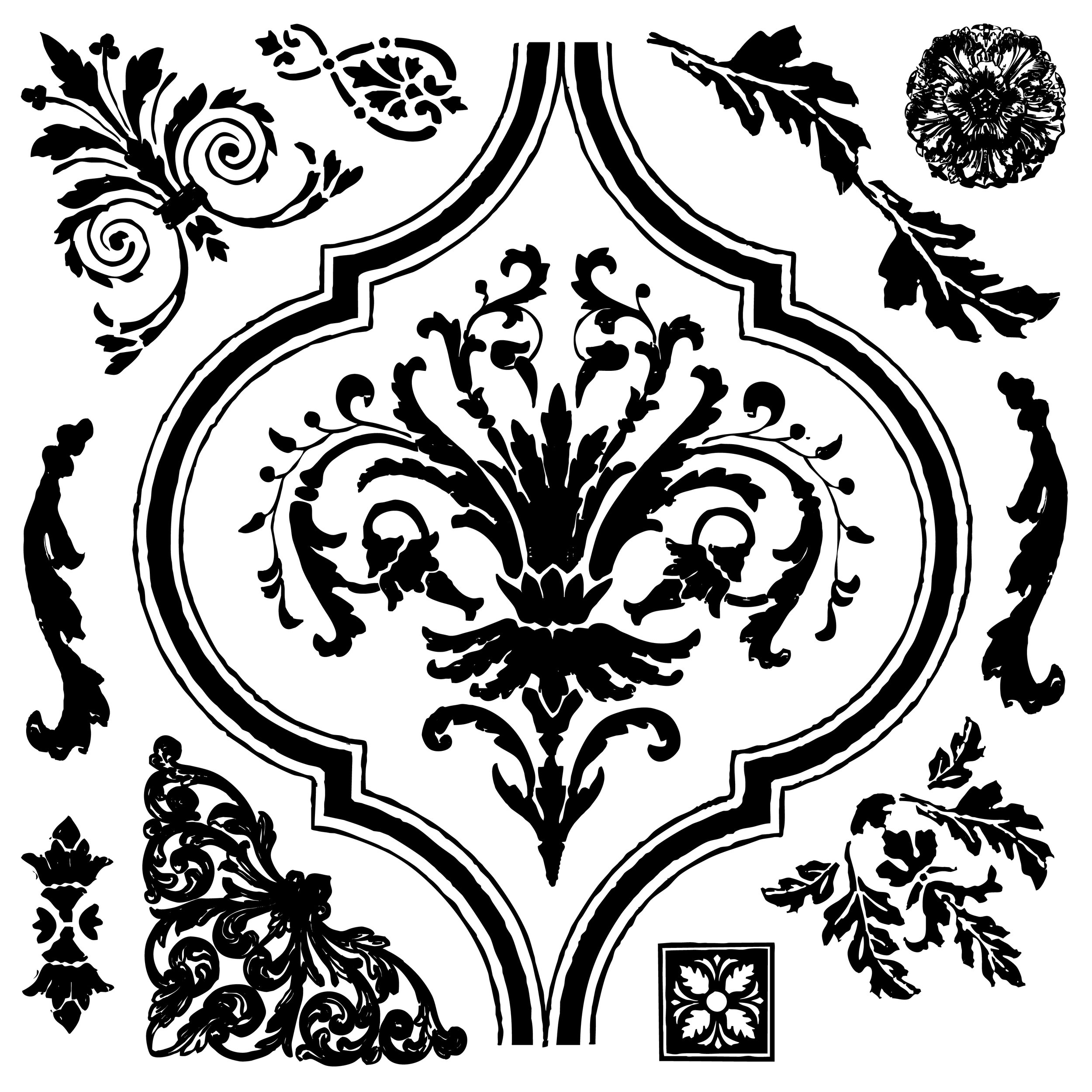 This new set is called Arabesque (815974). This bold design looks amazing on walls and perfect for continual patterns on large surfaces.