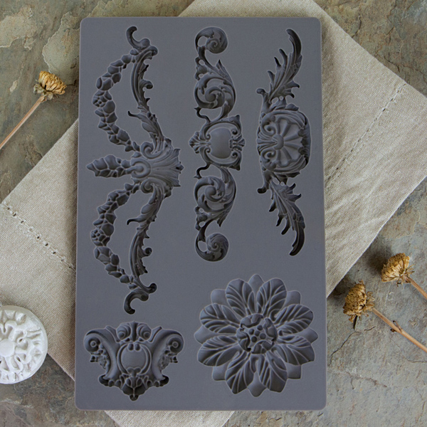 The mould images are timeless and can be applied to many styles of furniture and wall art...Combining the castings gives you so many possibilities to create your own decorations.  Baroque 3-814793