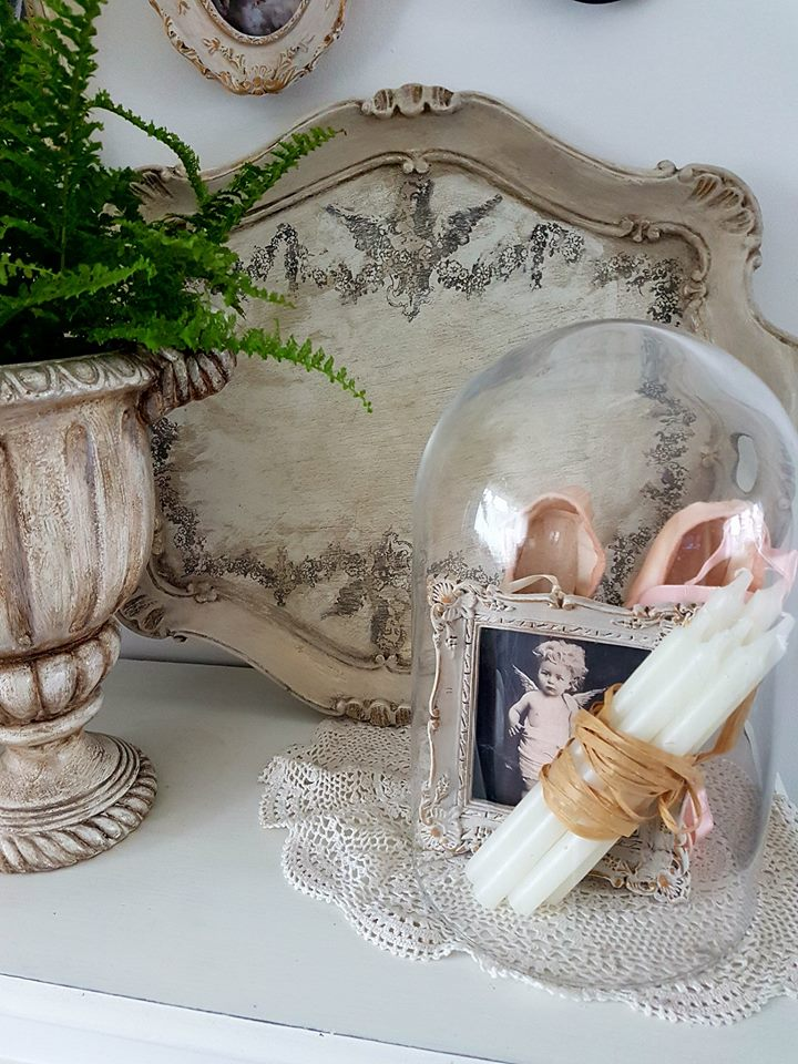 Magdalena Salacinska from  Secret Garden Chic  designs with an expert eye and her projects are stunning. She adds rustic, old world charm to her pieces and breathes new life into anything she transforms without compromising it's original appeal.