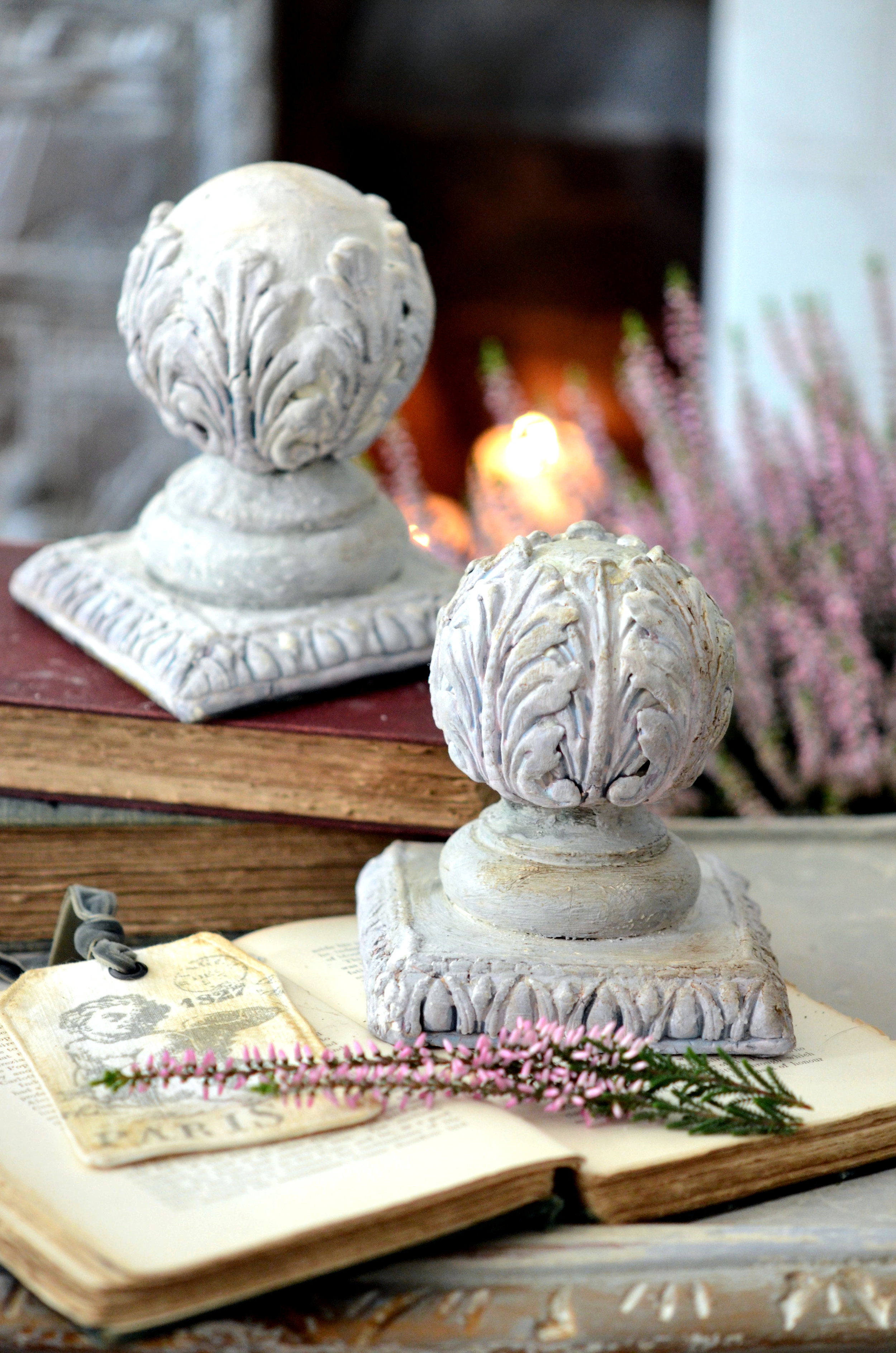 Now you can decorate your interior with charm of old French manor statues. These elements will look fabulous in your home...  Happy creating ! ~Cat-arzyna