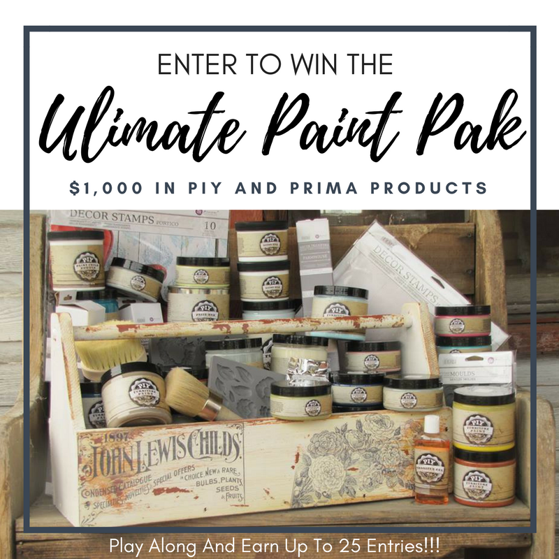 PIY Paints has a fabulous giveaway up for grabs and it includes some of our amazing Iron Orchid Designs products as well! Go to this link to enter:https://www.facebook.com/PIYPaintproducts/app/228910107186452/  Good luck!