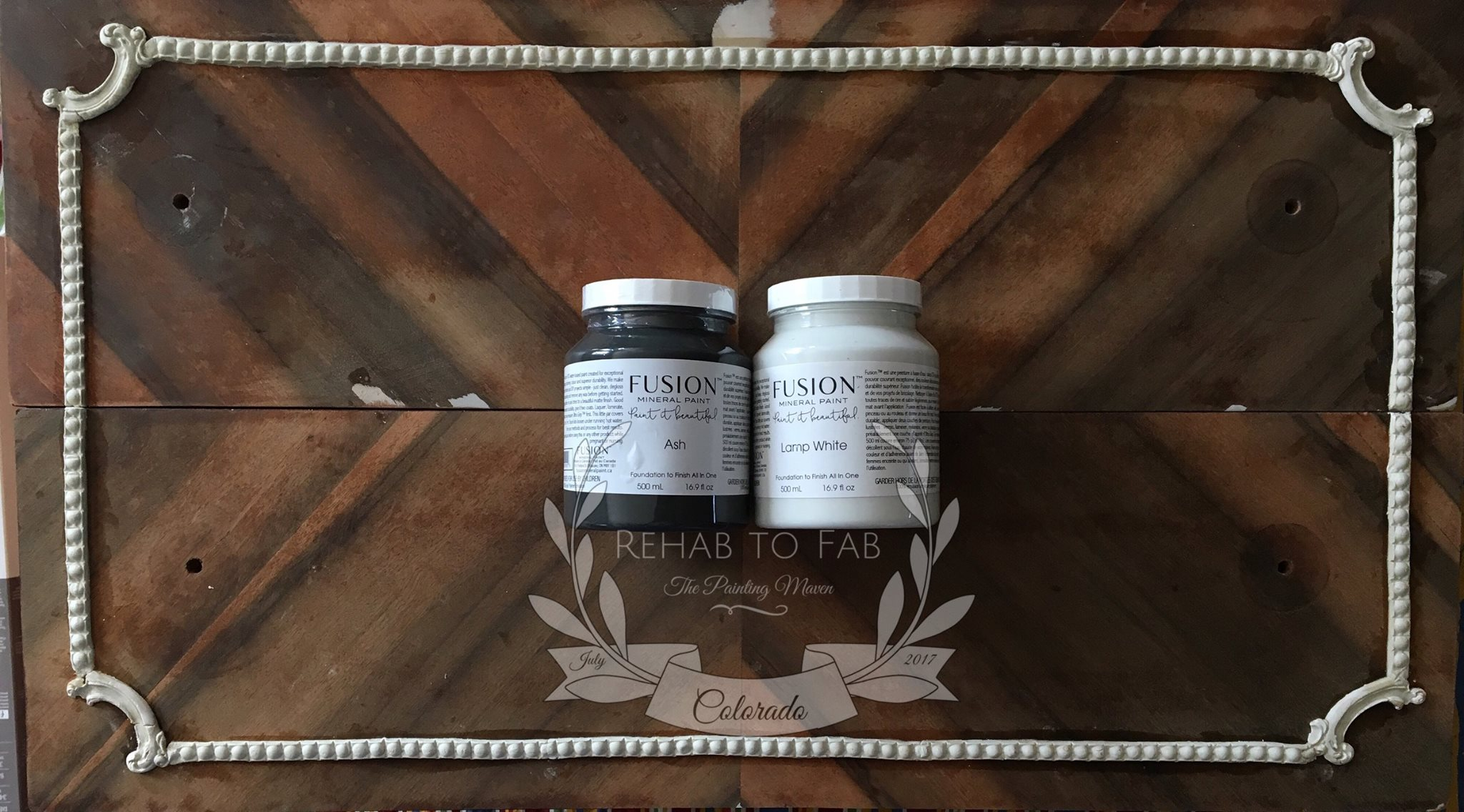 Now you are ready to add paint. Stephanie used  Fusion Mineral Paints , Ash and Lamp White.