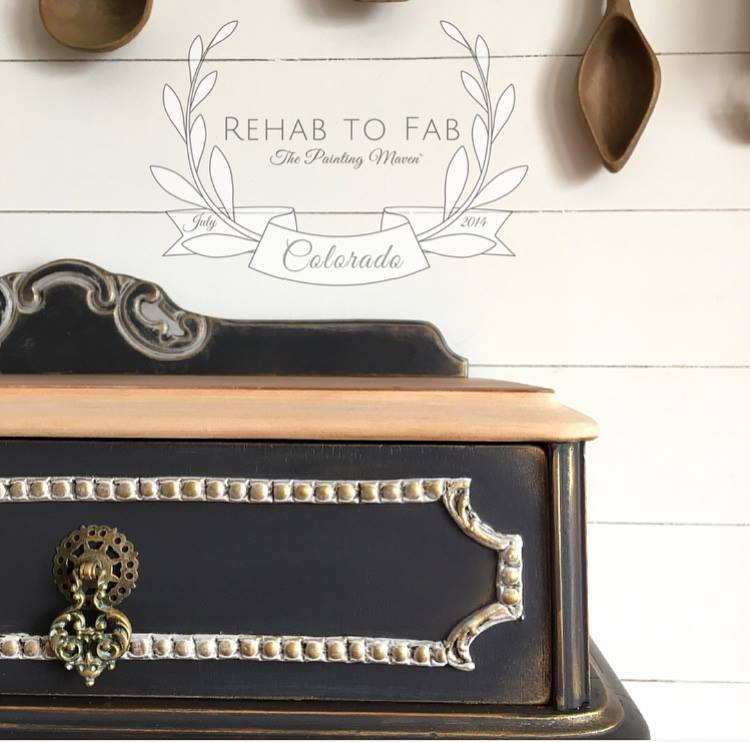 The Art Alchemy Wax was added to bring out the details of the appliques, edging and it was used on the hardware too. It adds a soft metallic look without overpowering any of the details.
