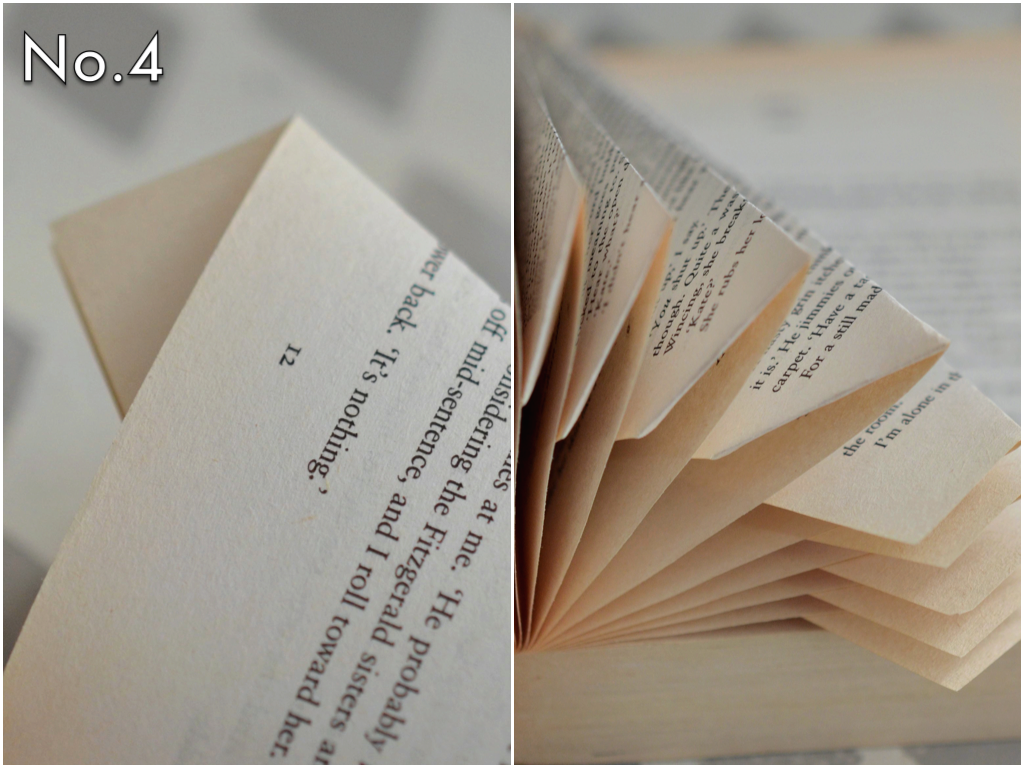 There will be a piece that sticks out at the bottom of the page, so give that a trim for a flush edge for the book to sit on. You can use the backside of the page as a guide to cut the straight line needed when trimming off that little excess piece.