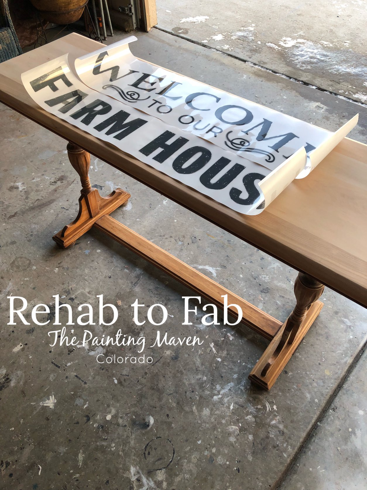 and then chose the [re]design transfer she wanted to use. Two great choices! Steph used this same combination her DIY recycled wood sign here.. .