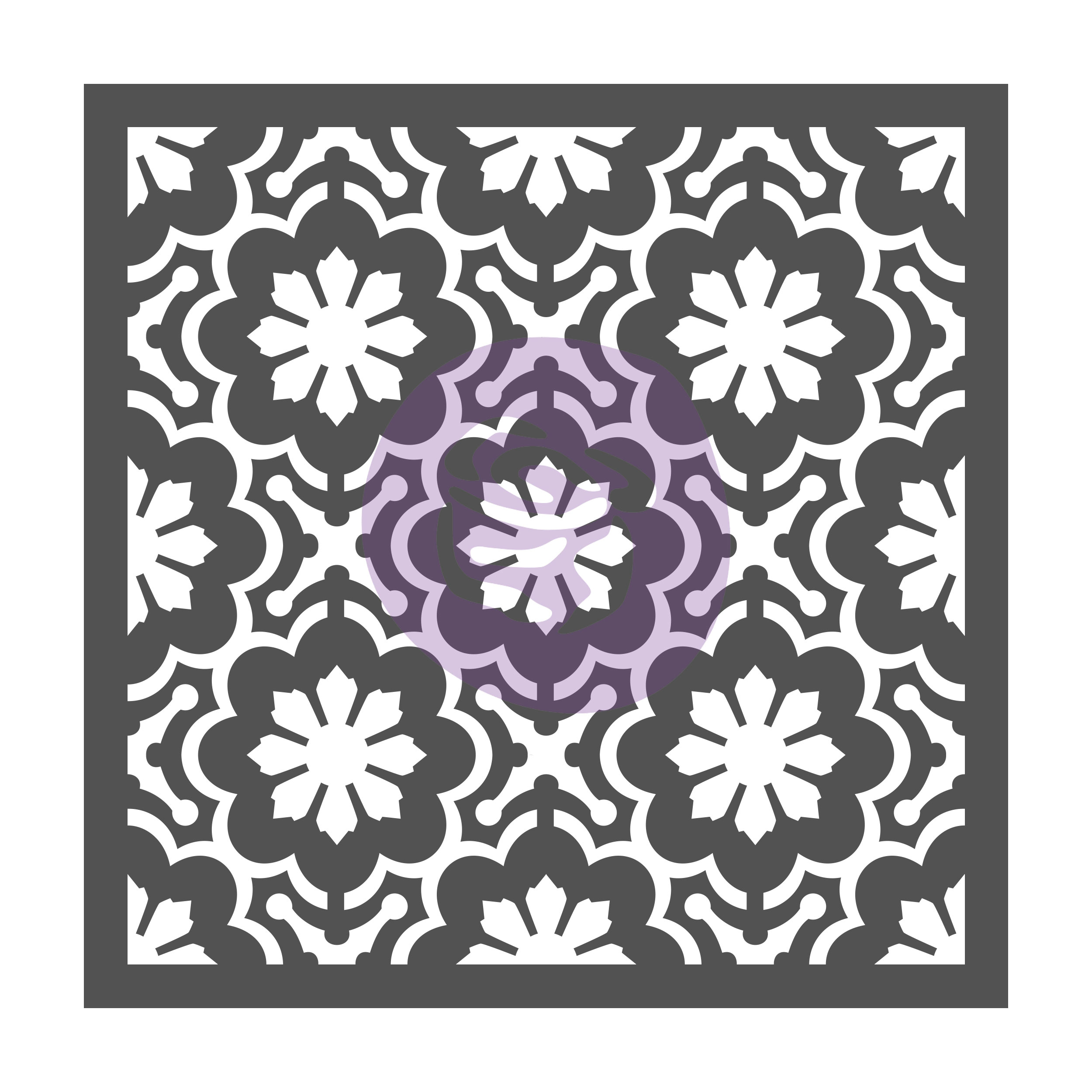 This [re]design stencil is called Dainty Fleur (633547) and will be hitting store shelves this May. Love that Steph chose this design for the background-it looks perfect with the transfer...