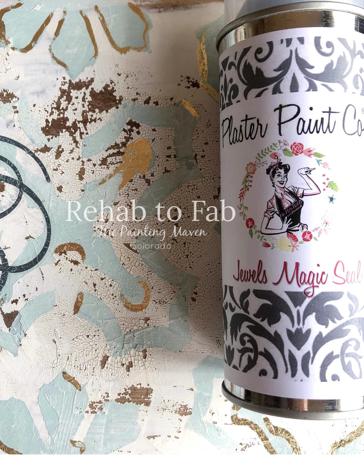 Stephanie then added a spray sealer by the Plaster Paint Company called Jewels Magic Sealer.