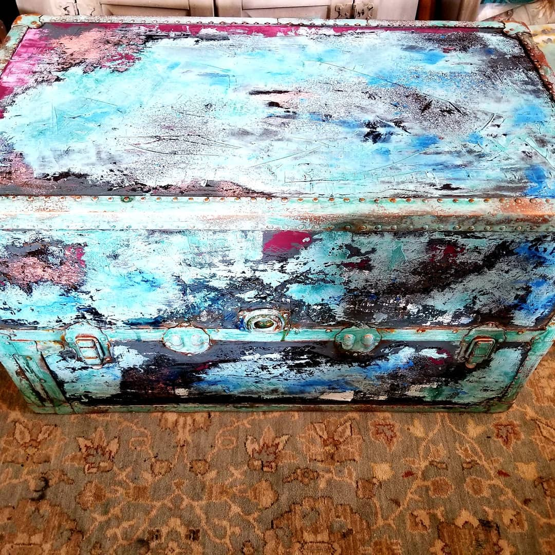 The results are beautiful-the colors are coming to life and they almost remind us of a storm-with all the patina and colors working together-don't you think?