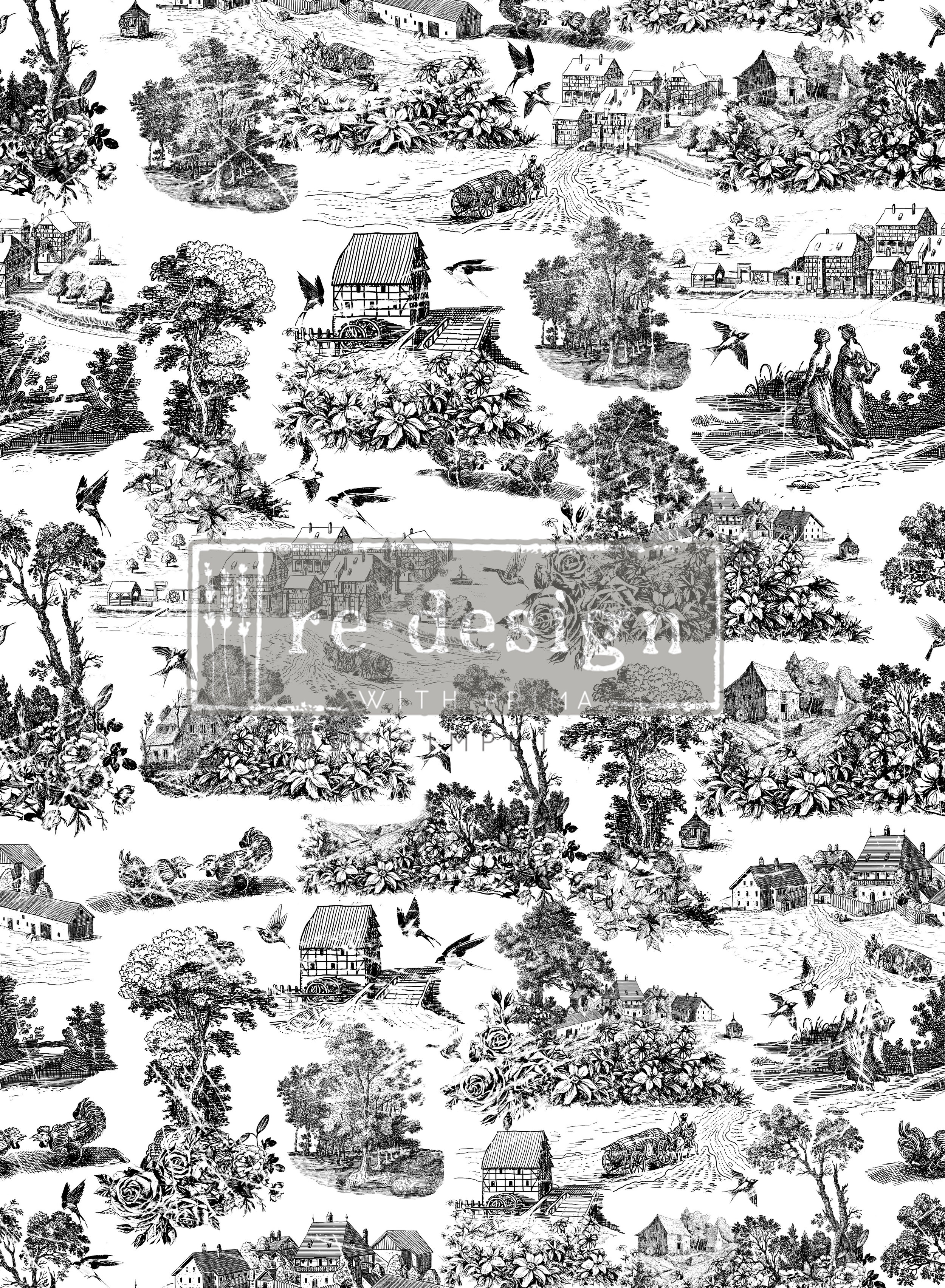 Simplicity (635473) is made up of vintage, countryside images, roses and more. This would look amazing on so many different style projects...so versatile!