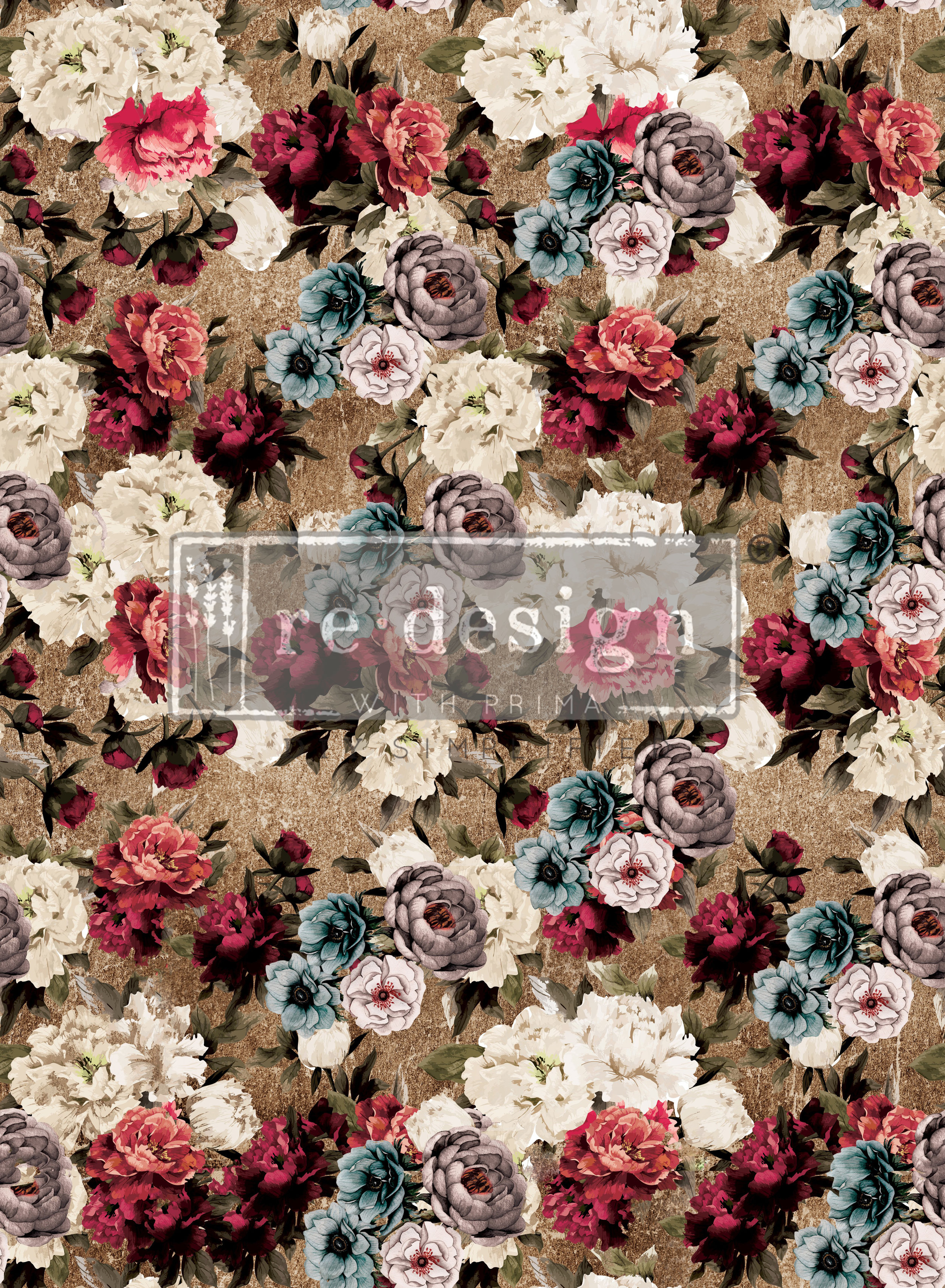 Tea Rose Garden 635442-the size of this transfer all together is 22 x 30 inches.