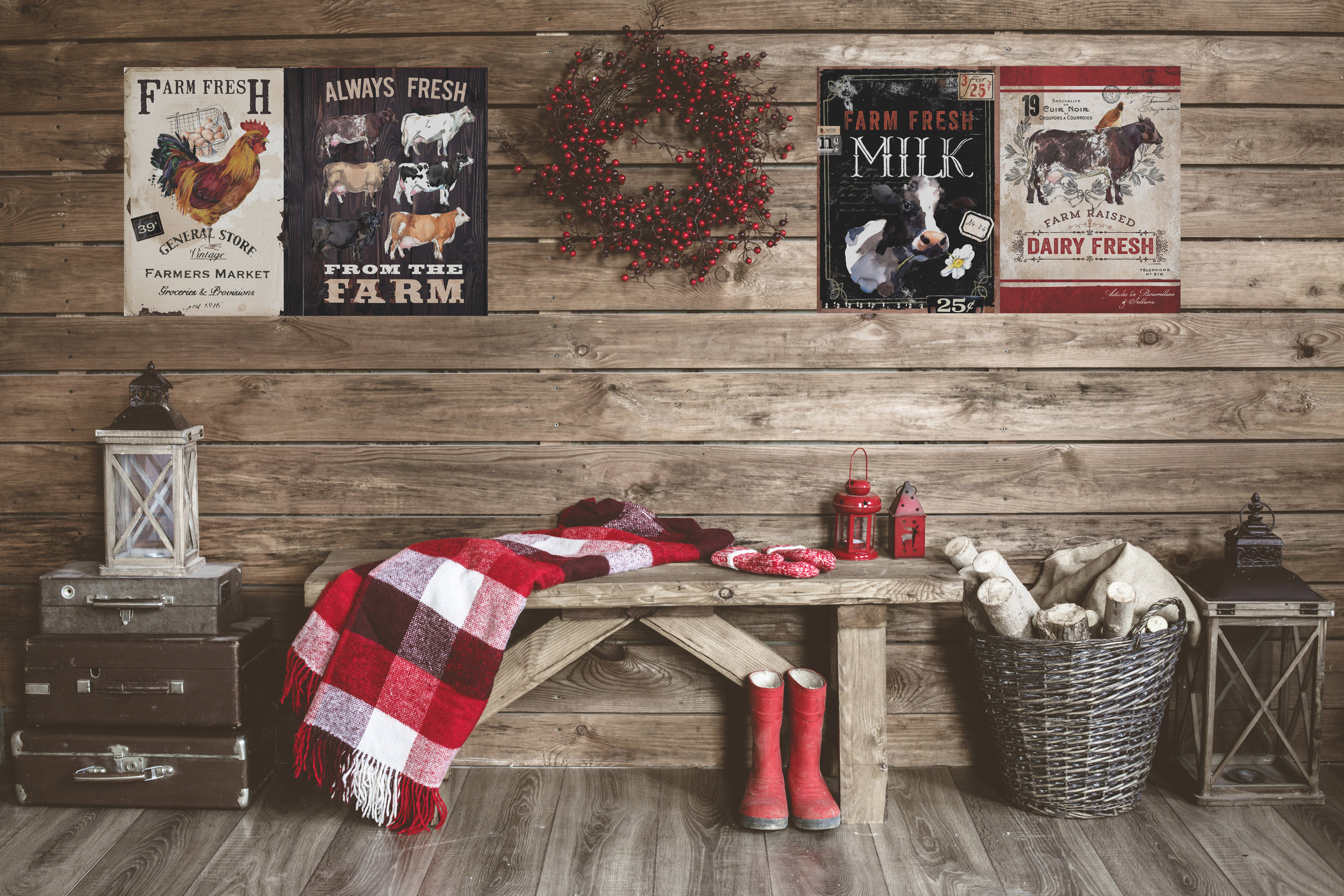 Love the rustic vintage look? These transfers will be perfect for your home decor!