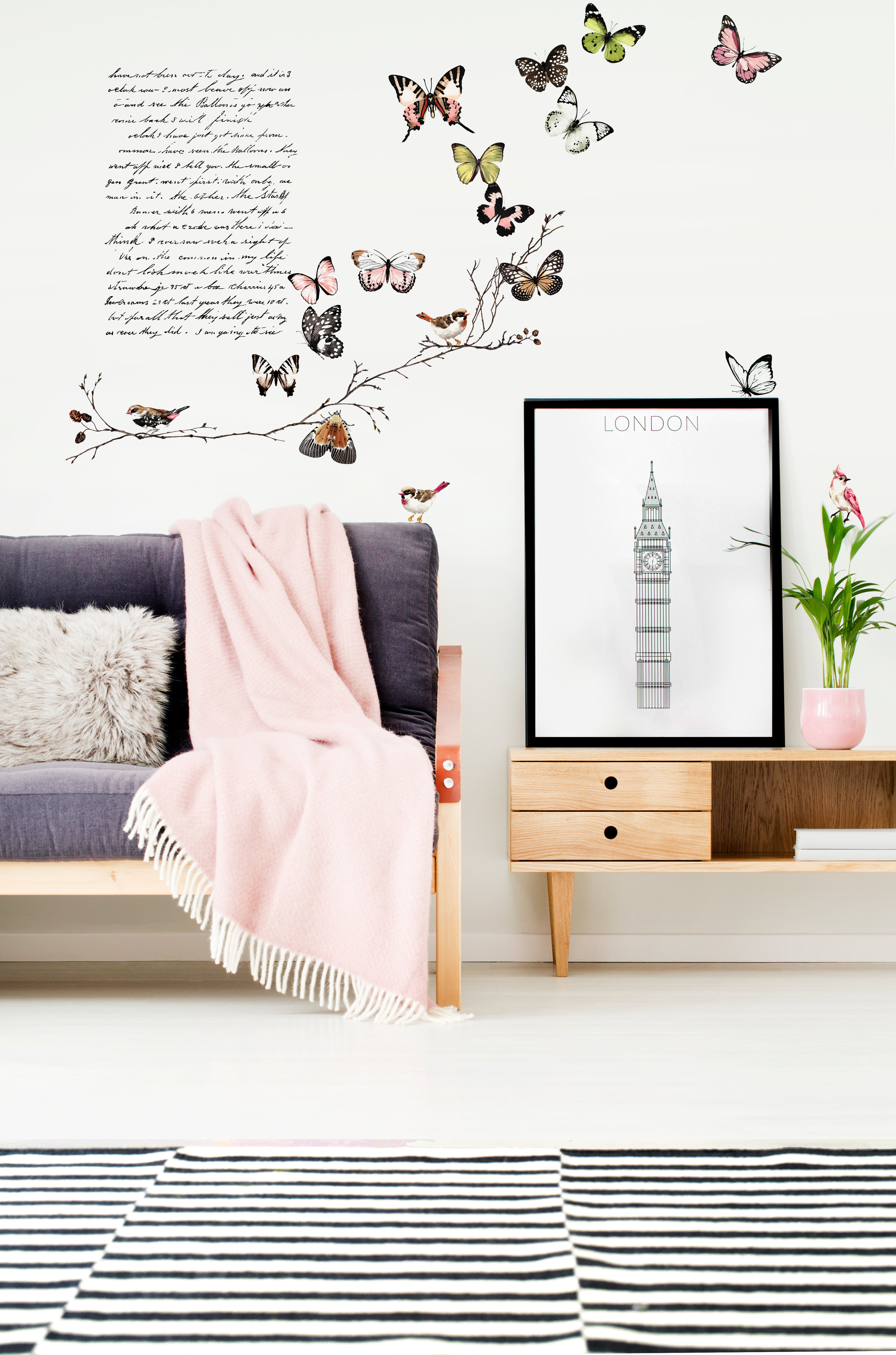 Add a touch of whimsy by adding the transfers direct to your walls!