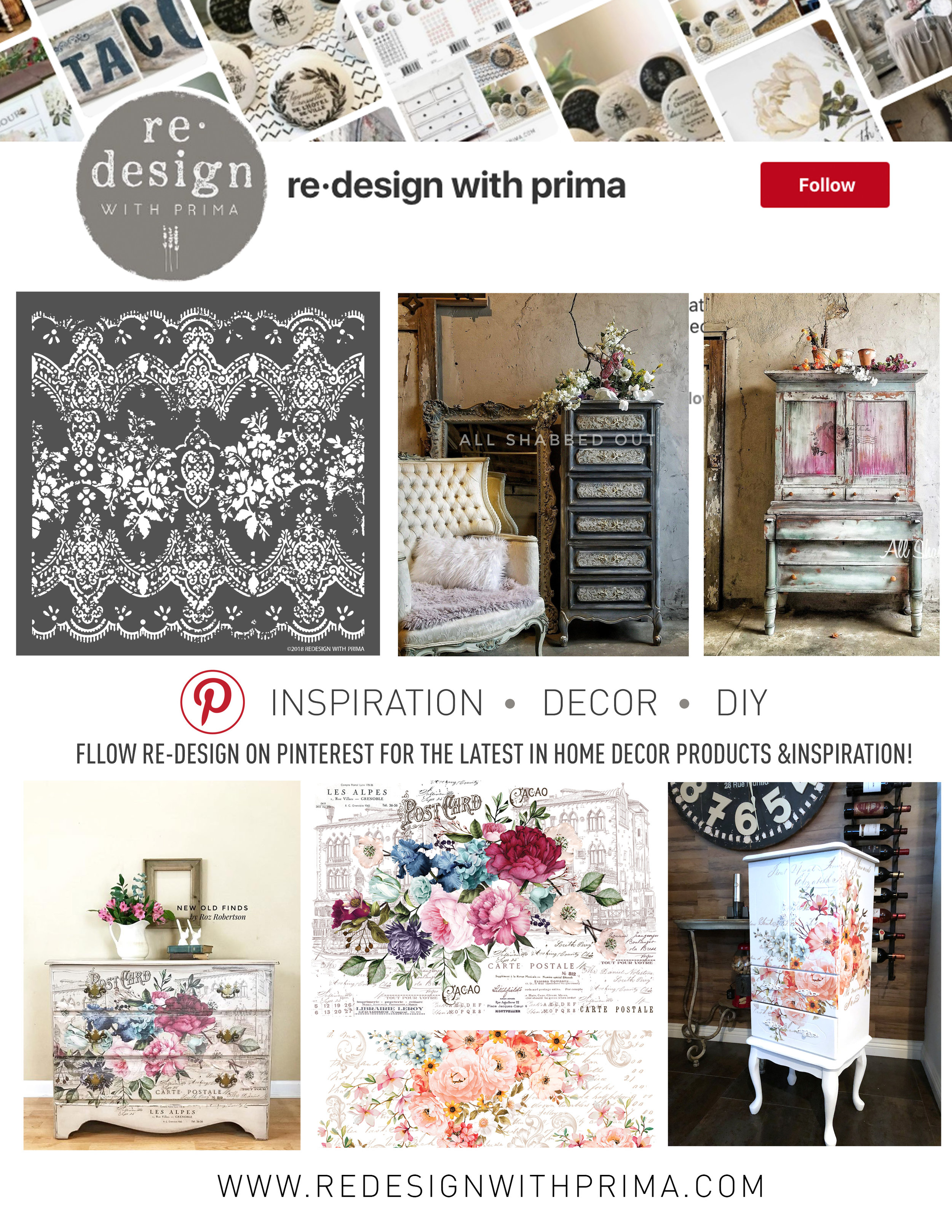 And if you are interested in seeing more fabulous projects like this, be sure to follow us on  Pinterest!  We loads of inspiration on all of our boards...  Thanks for stopping by and be sure to check back often!