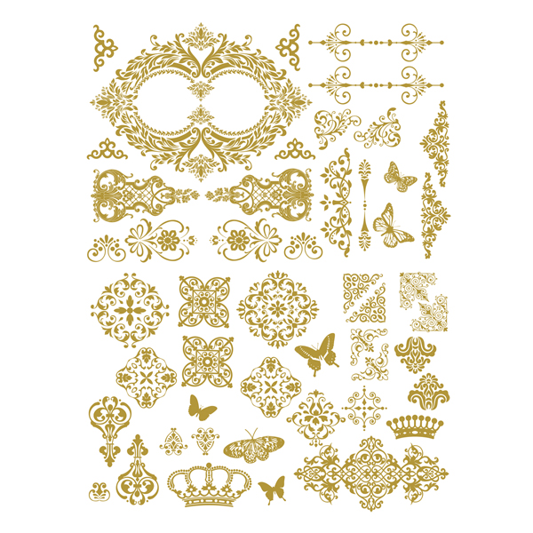 Gilded Baroque Scrollwork-635695