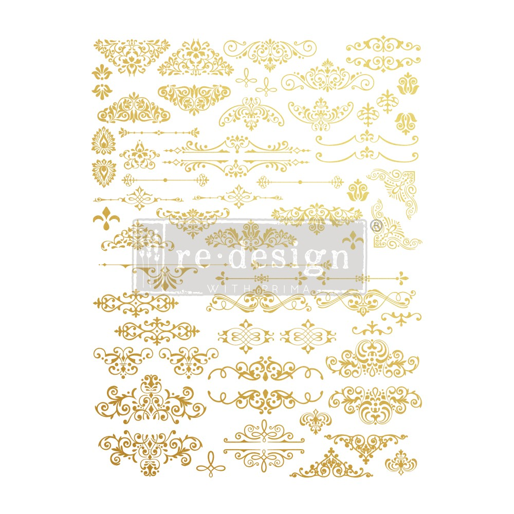 This new set is called Gilded Ornate Flourishes (638771). It comes in 2 sheets, with loads or detailed designs to choose from and have a brilliant gold finish when applied.