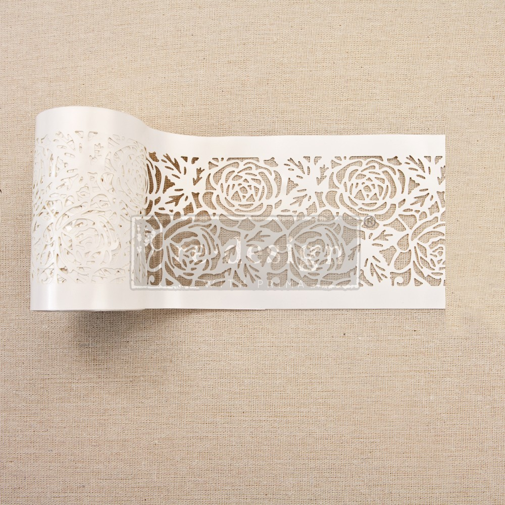 Stick and Style Stencil Roll-Tea Rose Garden