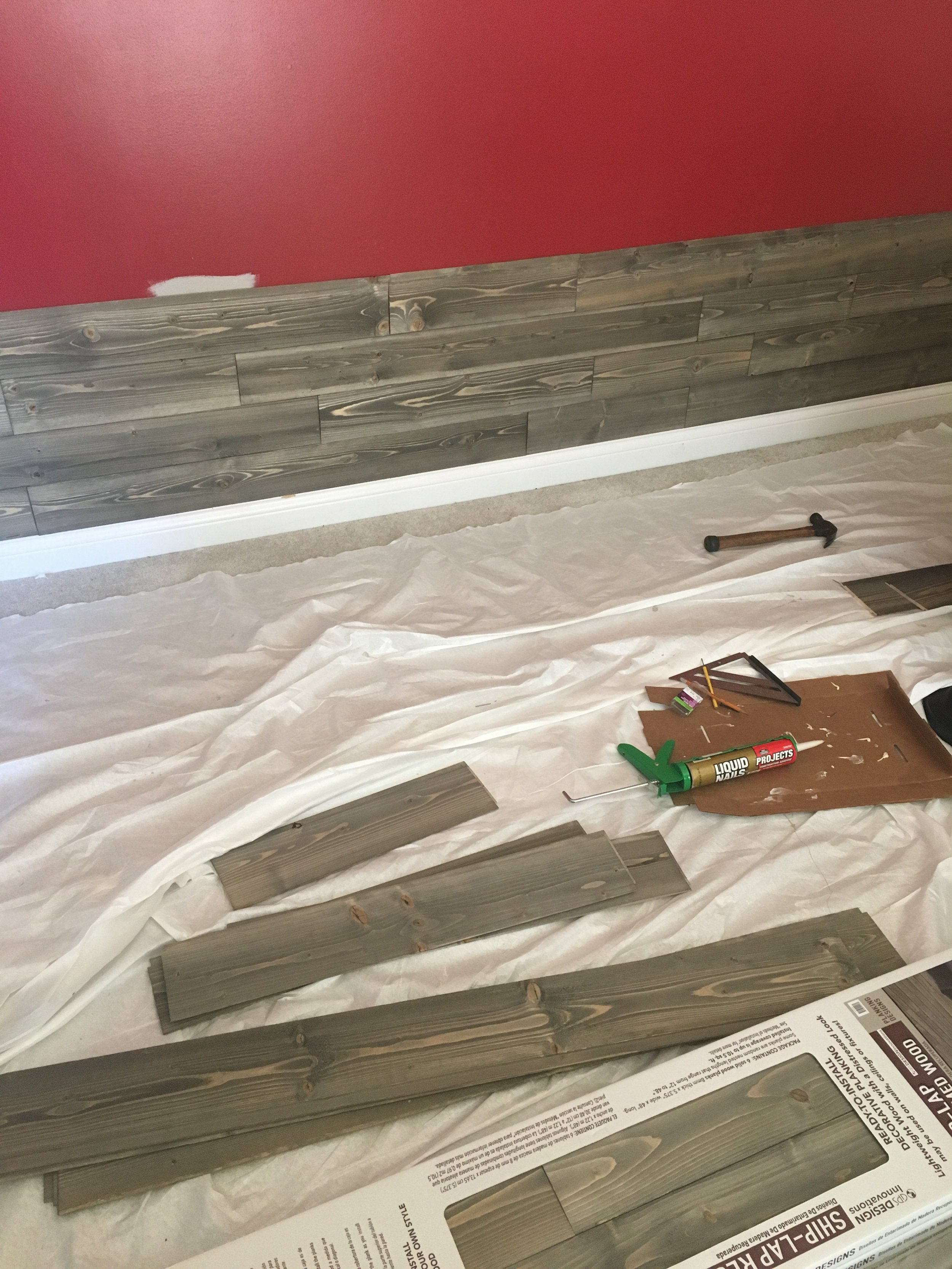 The walls went up easily for a stunning look. Make sure you have the lines and ends staggering. The materials can be easily found at your local hardware store in a variety of shades and styles.