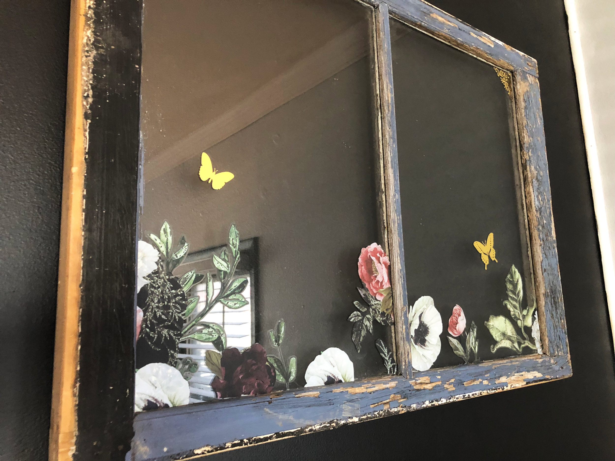This is a genius upcycle idea to create wall decor on a budget. Use old discarded windows and add some fun designs using the Decor Transfers™. Get a chippy effect by adding paints, then scraping them off to give them a vintage look. Use colors that match the color scheme in your room.