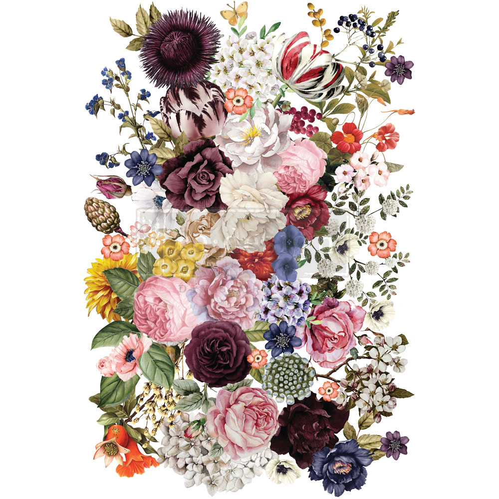 """""""Wondrous Floral"""" is a gorgeous collage of colorful florals that could be applied to walls, furniture and more."""