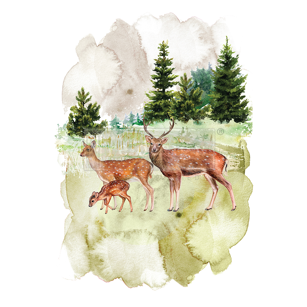 """Our """"Fauna"""" transfer has a beautiful watercolor look with amazing color and imagery…"""
