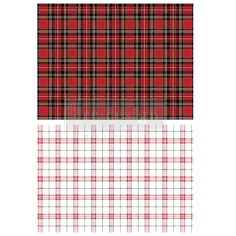 """And last but not least, """"Gingham Red""""! Another classic to use for masculine projects or paired with other transfers from our collection. So many possibilities!"""