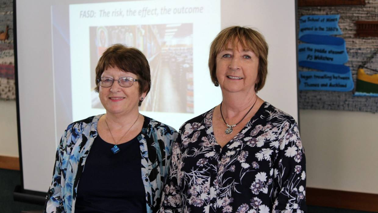 CAPS Hauraki service manager Jenny Curry, left, with Alcohol Healthwatch health promotion advisor Christine Rogan.