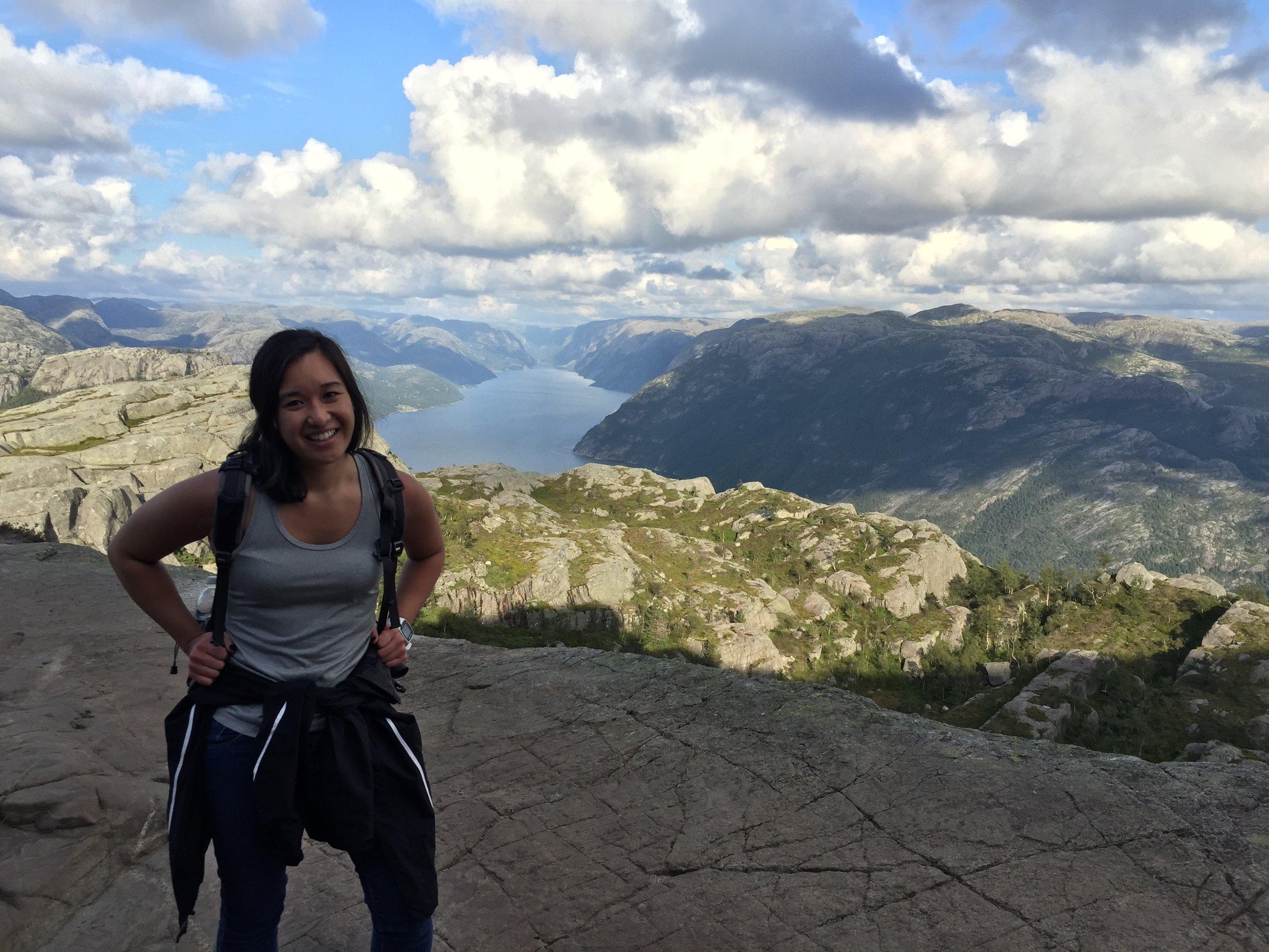 Hiking Preikestolen (Pulpit Rock) in Norway in August, 2015