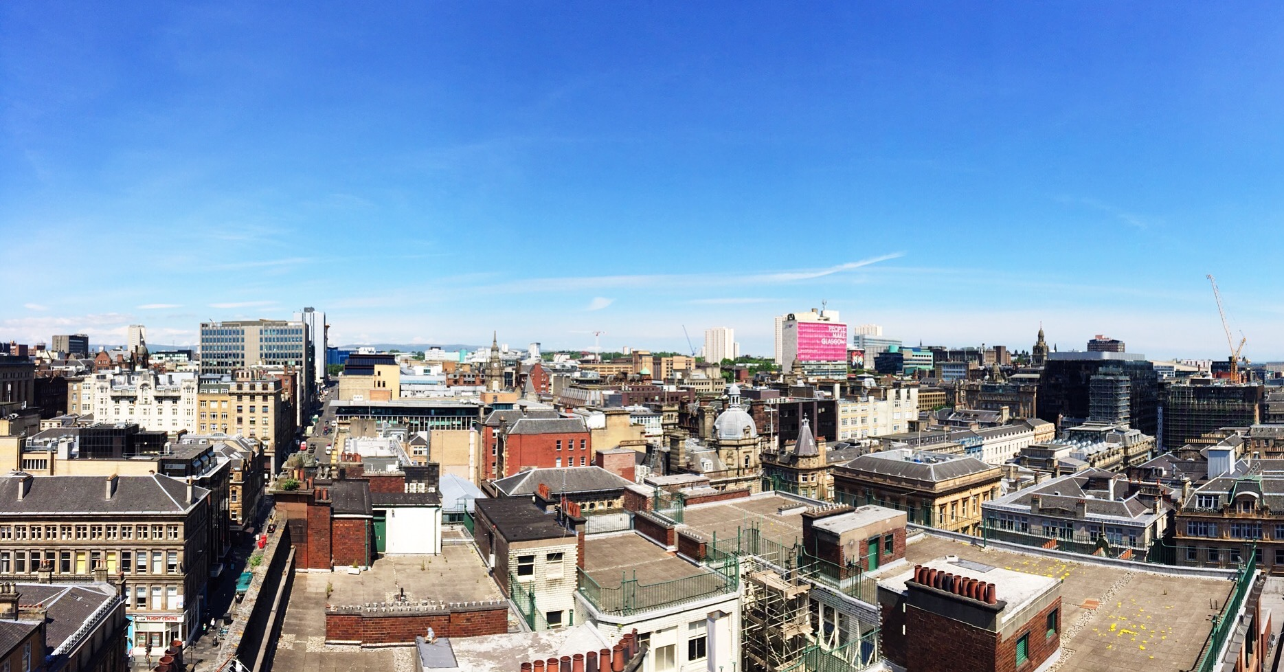 View of Glasgow city centre from The Lighthouse