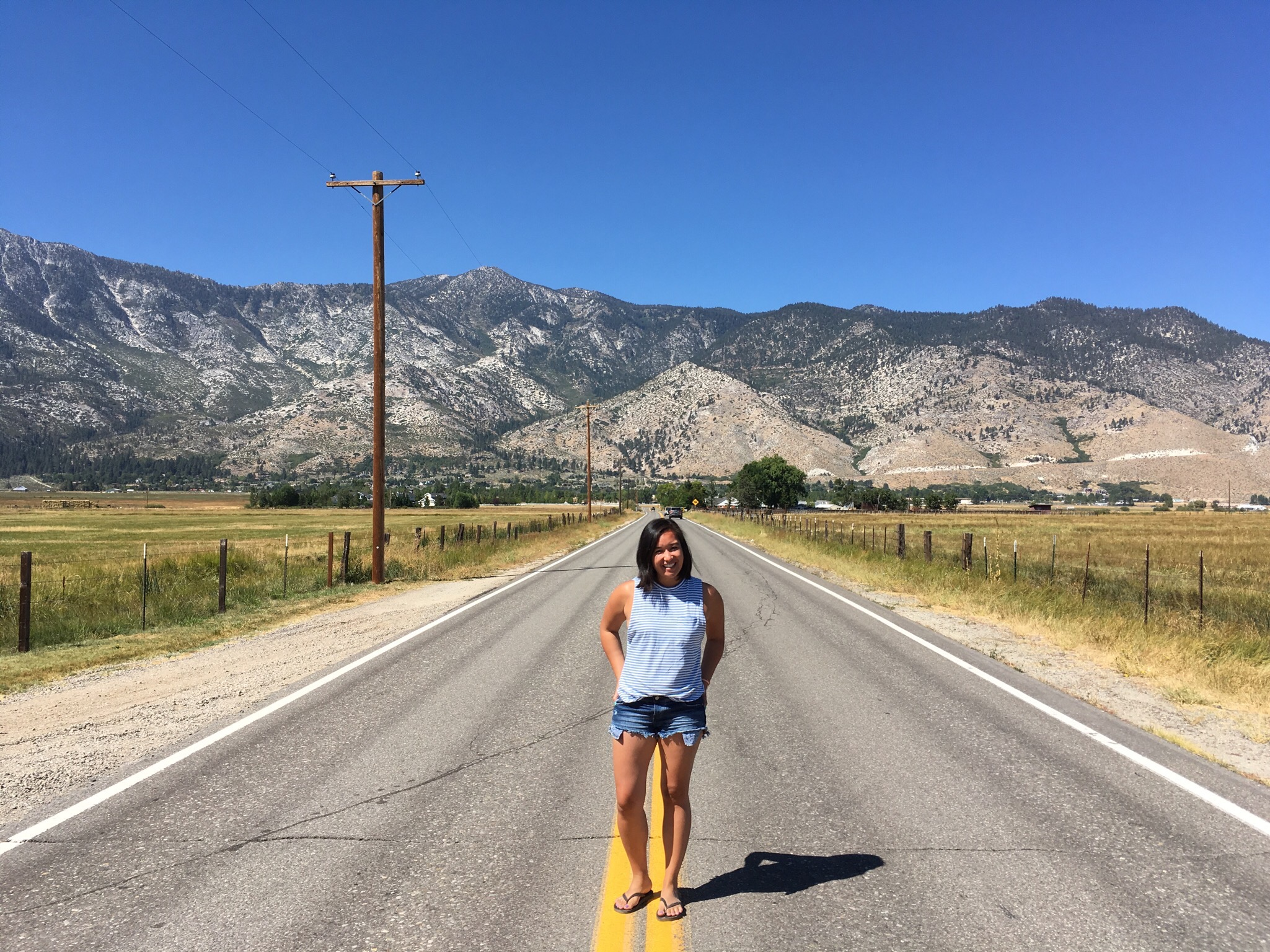 Gardnerville, Nevada on our drive home from Lake Tahoe